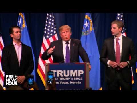 Watch Donald Trump's Nevada caucus victory speech