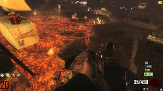 Call of Duty Black Ops 2 Zombies Town 4 Player Gameplay to Round 27