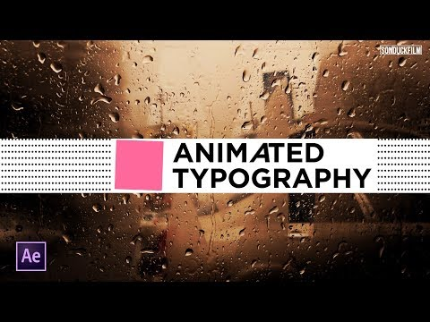 Animated Typography 1 | Motion Graphics After Effects Tutorial
