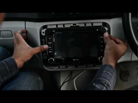 Custron Skoda DVD Navigation All in one installation in Skoda Fabia II