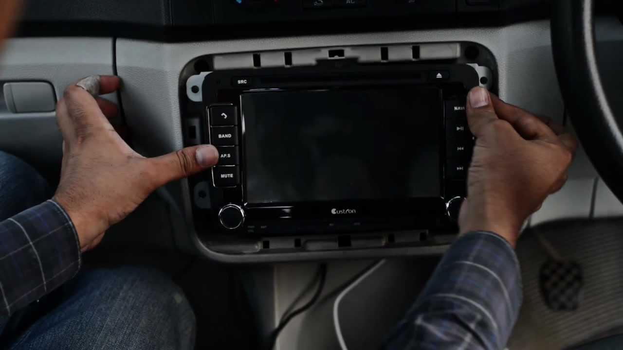 hight resolution of custron skoda dvd navigation all in one installation in skoda fabia ii youtube