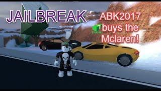 Roblox - Jailbreak Train Update! - Test driving the new Mclaren!