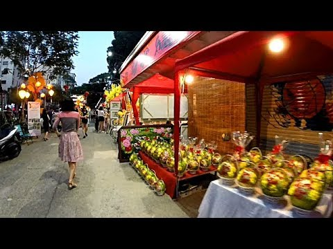 An Evening Walk in Downtown Saigon - HCMC, Vietnam