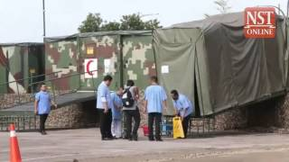 Army mobile hospital at HSA still being set up, fully operational tomorrow