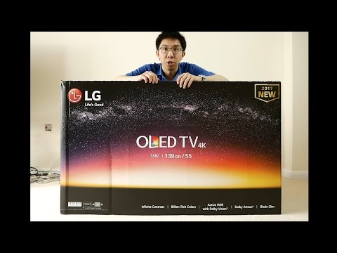 LG B7 2017 OLED TV Unboxing