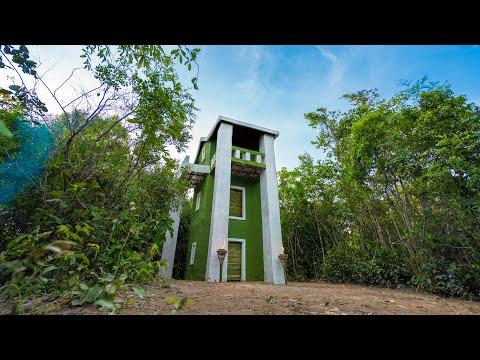 فيديو: قم ببناء أجمل منزل من ثلاثة طوابق باستخدام الطين والخيزران - Build The Most Beautiful Three Story House Using Mud and Bamboo