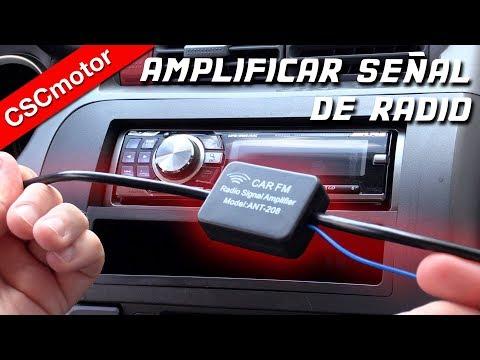 Peugeot 807 2005 en coche de Radio Estéreo Amplificado fakra-din Aerial antena adaptador