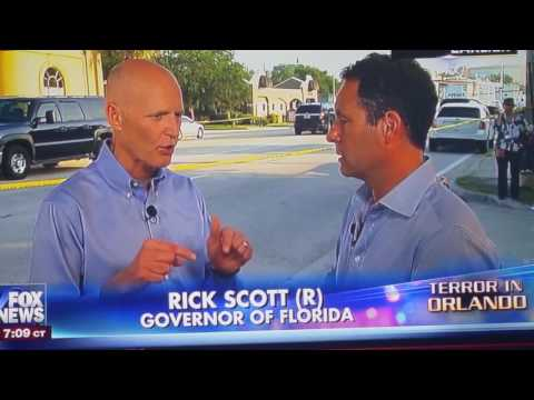 the Democratic president of the United States has yet to call Governor Rick Scott of Florida