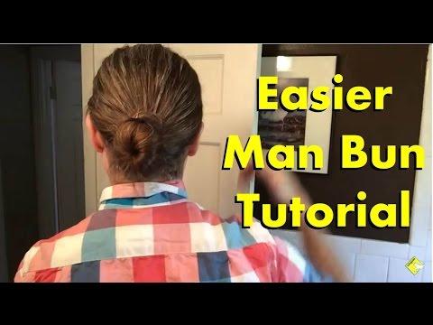 Mens Long Hair: Easier Man Bun Tutorial