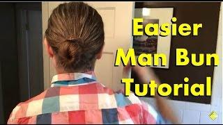 Mens Long Hair: Eaṡier Man Bun Tutorial