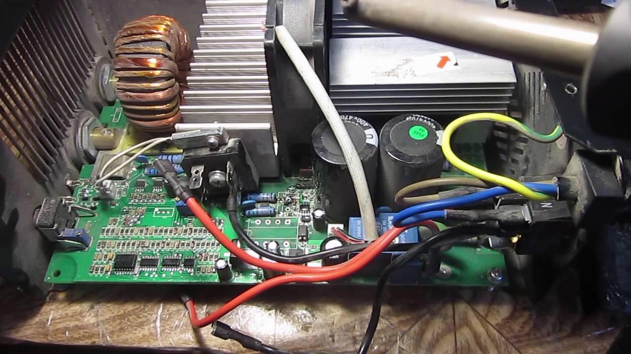Ремонт сварочного аппарата kaiser nbc 200 250. Схема youtube.