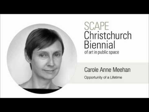 SCAPE Carole Anne Meehan's Speech - Opportunity of a Lifetime
