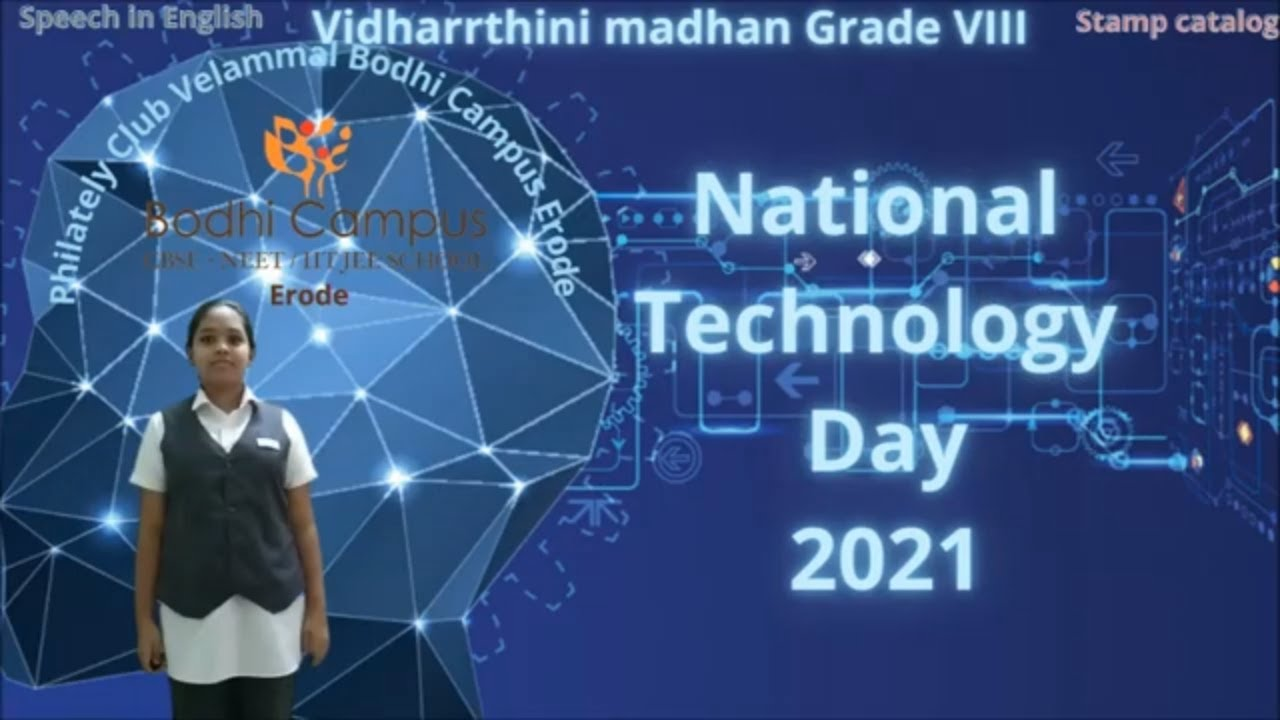 National Technology Day 2021 theme speech in English stamp talk - YouTube