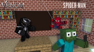 Monster School : VENOM AND SPIDER-MAN - Minecraft Animation