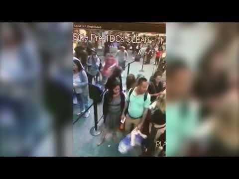 Surveillance video shows scare at Orlando International Airport