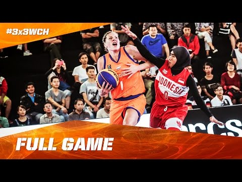 Netherlands vs Indonesia - Full Game Women - 2016 FIBA 3x3 W