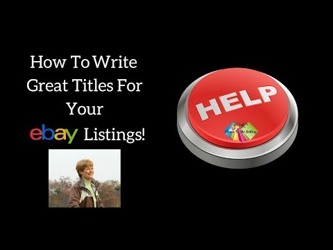How to write great titles for your eBay listings quickly