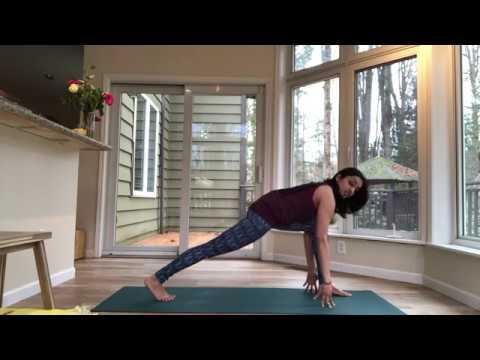 Anjaneyasana (low lunge pose) & High Lunge yoga pose tutorial Aham Yoga