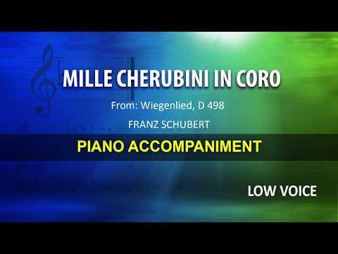 Mille cherubini in coro / Schubert: Karaoke + Score guide / Low Voice