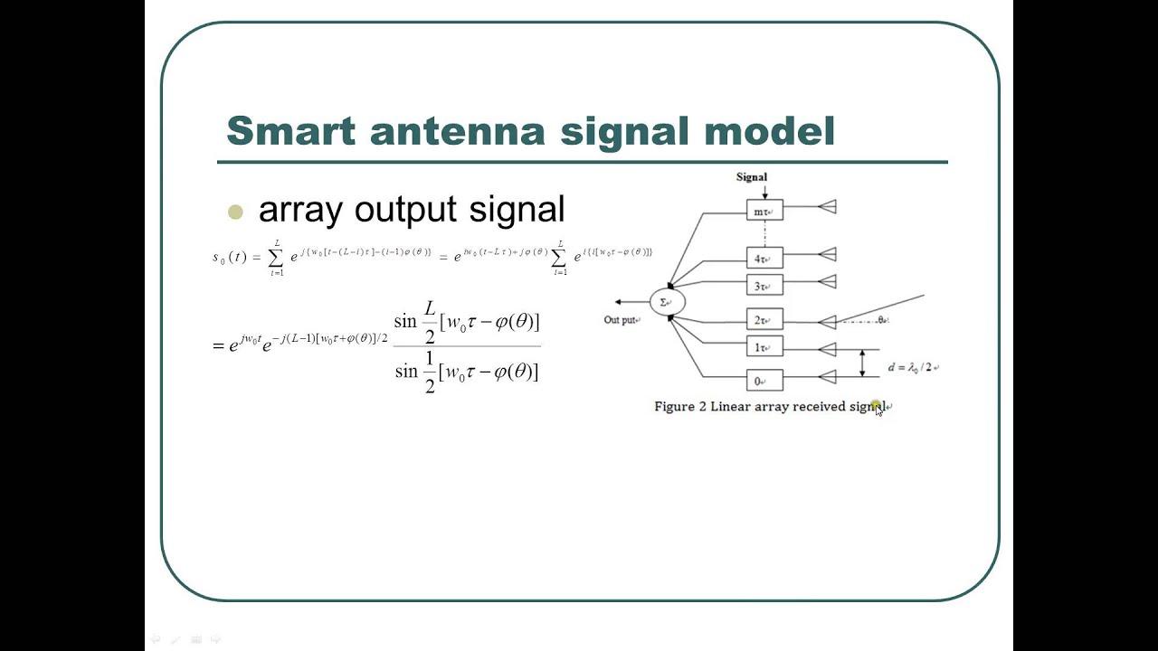 Ppt on smart antennas - Eel6509 Presentation 2013 Spring Smart Antenna