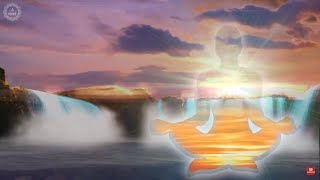 Silver Lining  Binaural Beats Healing Meditation Positive Energy Natural Waterfall Sounds for Hope