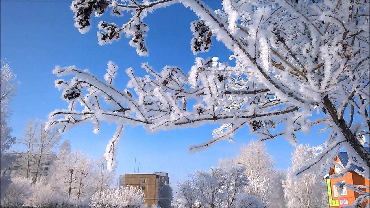 2020-02-28 End of February, beautiful winter, −12 ° C, Bratsk, Siberia, Russia