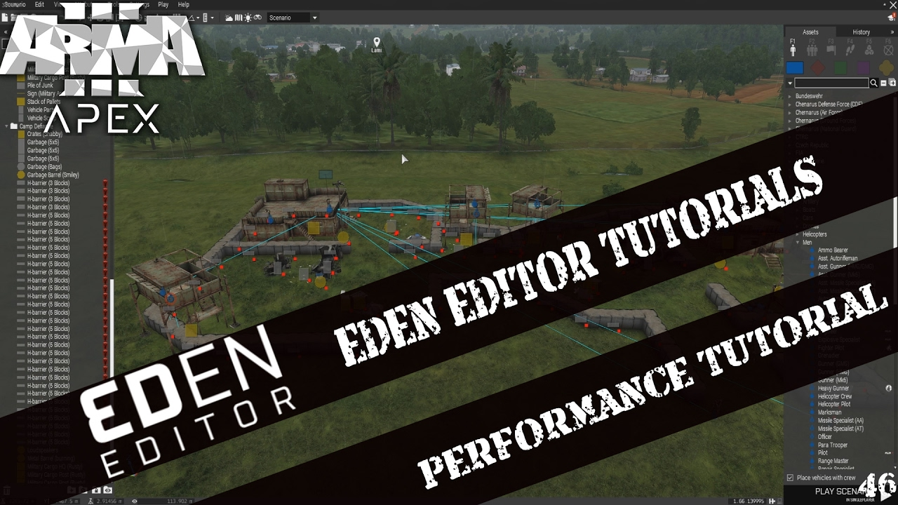 🔴 ►ARMA 3 EDEN EDITOR TUTORIAL 46 ✍ ◄ UEBER PERFORMANCE - SIMULATION,  SIMPLE OBJECTS [GERMAN]