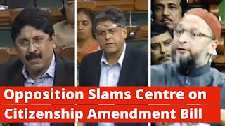 Owaisi Tears Citizenship Bill, Opposition Calls it Unconstitutional | Lok Sabha | The Wire