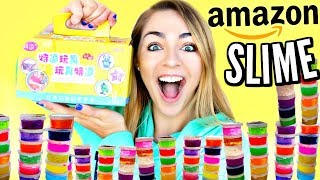 amazon slime package review! mini slimes, satisfying slime review package! nichole jacklyne