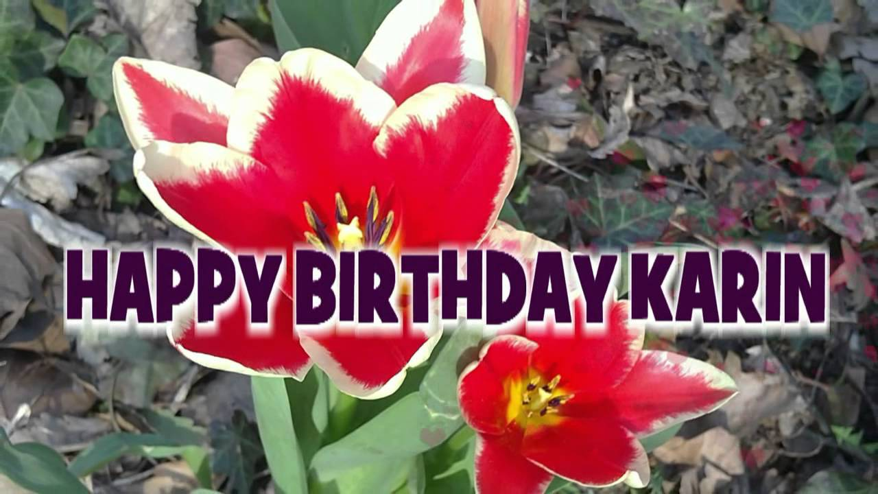 Happy Birthday Karin  Geburtstagsgrsse
