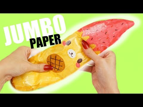 JUMBO PAPER SQUISHY BANANA YUMMIIBEAR | How to make a squishy without foam