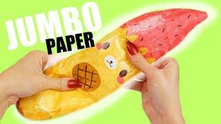 JUMBO PAPER SQUISHY BANANA YUMMIIBEAR   How to make a squishy without foam