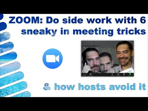 Zoom Do Side Work With 6 Sneaky Tricks How Hosts Can Avoid It Youtube