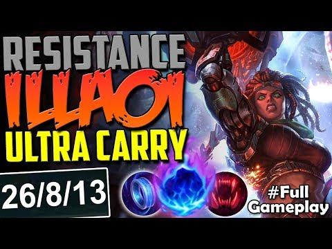 RESISTANCE ILLAOI ULTRA CARRY | AWESOME SKIN | New Runes Illaoi vs Darius TOP PBE SEASON 8 Gameplay