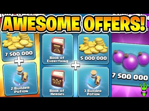 NICE SPECIAL OFFERS BOUGHT FROM THE SHOP! - Clash Of Clans