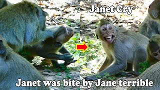 Janet got attack......Jane is Attacking & Bite violently to Janet terrible by warning & angry Janet