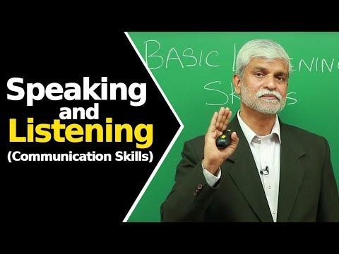 Speaking And Listening | Basic Listening Skills | Communication Skills