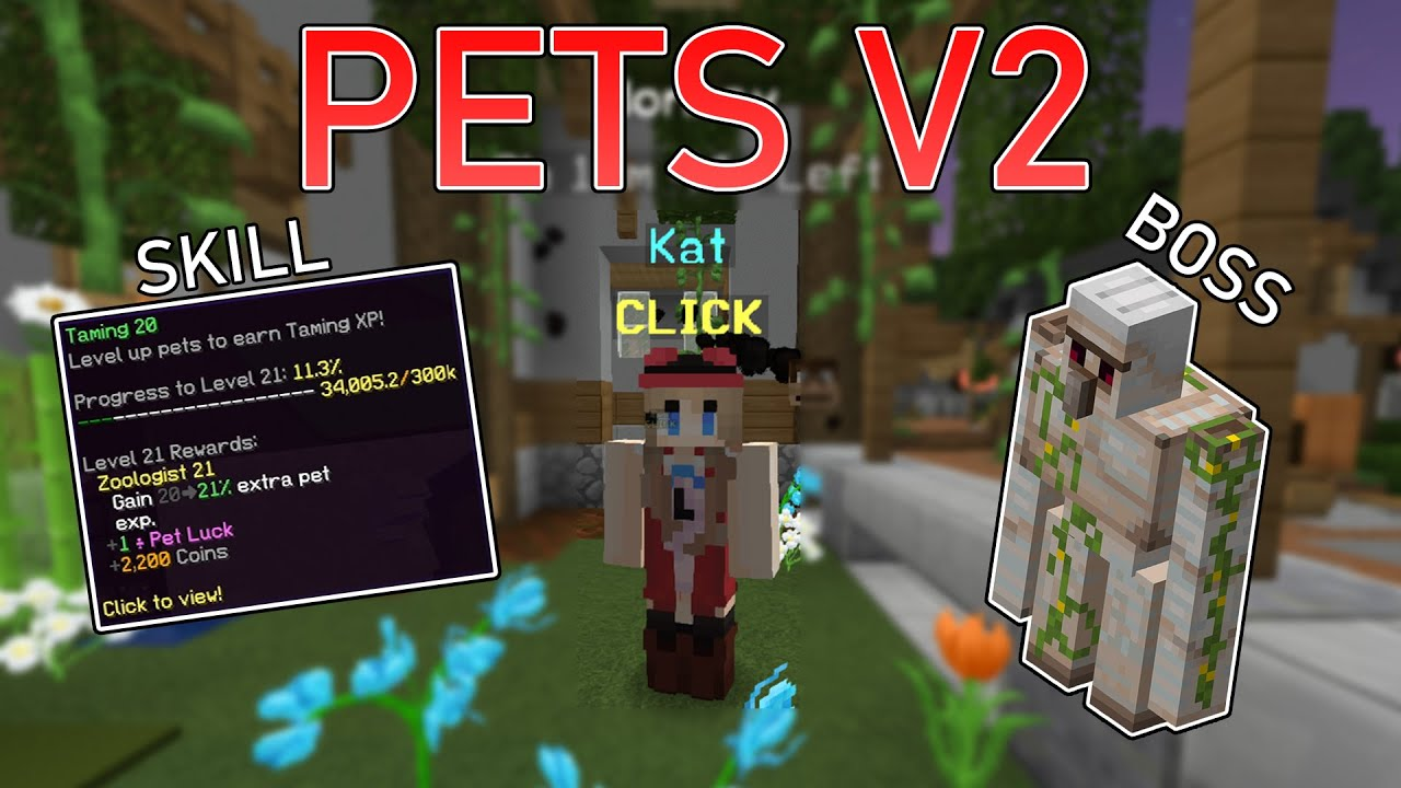 Pets V2 Guide Taming Skill Mini Boss Pet Items Hypixel Skyblock Youtube