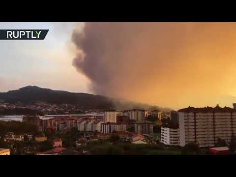 Wildfires rage across Galicia region in Spain, at least two dead