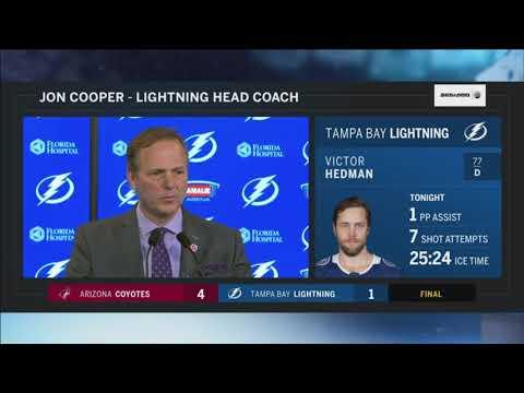 Jon Cooper -- Tampa Bay Lightning vs. Arizona Coyotes 03/26/2018