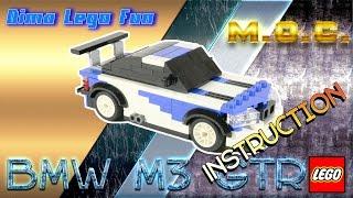 Lego MOC #60 BMW M3 GTR Instruction - Лего самоделка БМВ М3 ГТР Инструкция