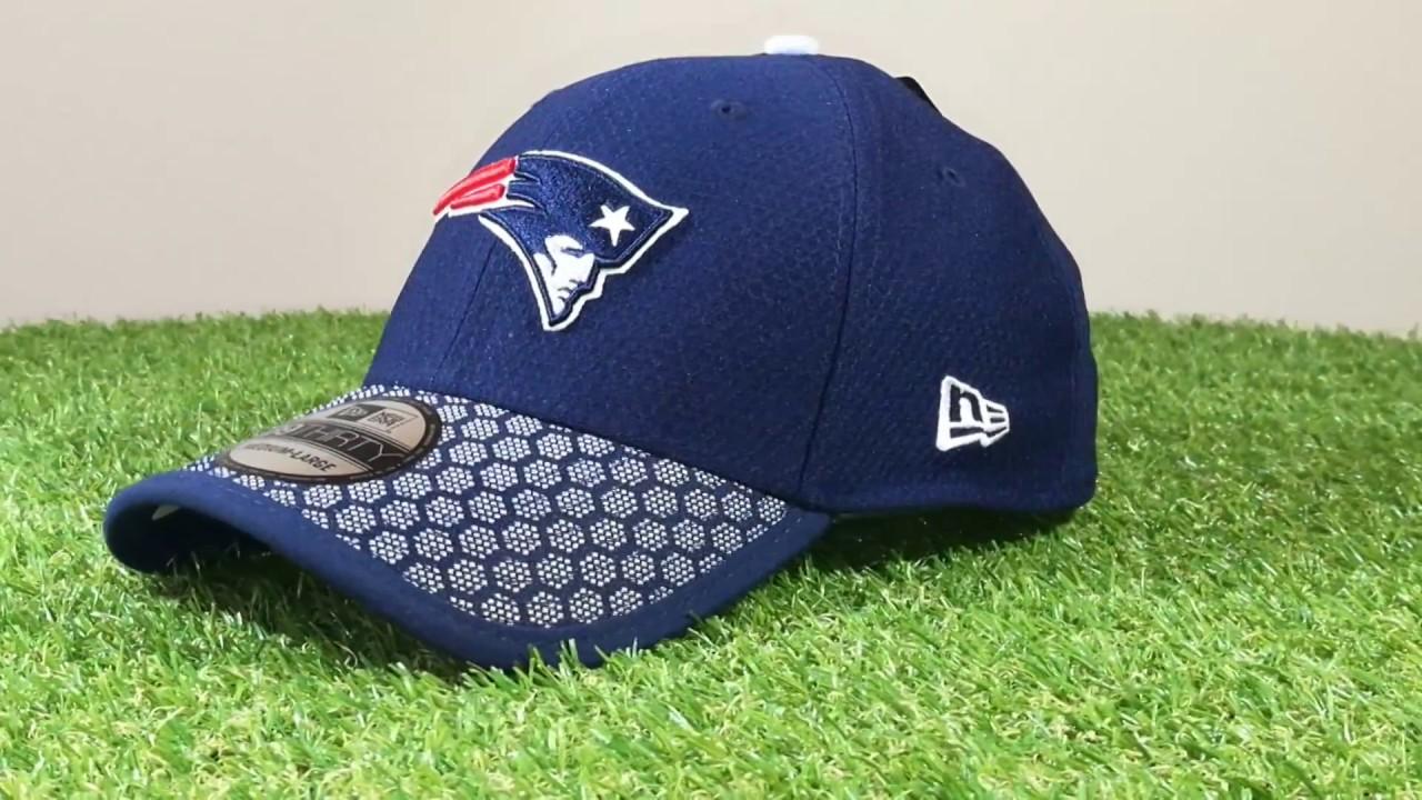 4a02ab06dd4 New England Patriots NFL 2017 18 Sideline Official New Era 39THIRTY  strech-fit baseball sapka