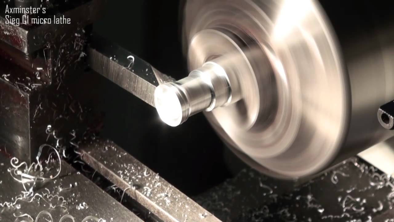 Axminster sieg c1 micro lathe first cutting youtube for Axminster tornio