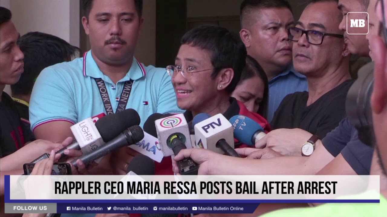 Rappler CEO Maria Ressa posts bail after arrest