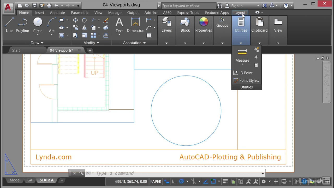 Making viewports from objects   AutoCAD: Plotting & Publishing from  LinkedIn Learning