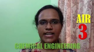 GATE 2016 Topper Chemical Engineering Exam AIR 3 : Devi Gopika from The Gate Coach
