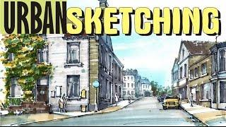 Городской Скетчинг Маркерами / Urban Sketching with Markers