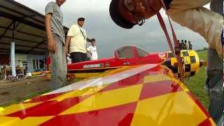 Yak 55 M 33% Goldwing RC DLE 111, Futaba 14 MZ with Gopro 2 mounted on wing, maiden smoke
