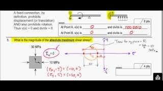 Mohr's Circle 3d - Absolute Maximum Shear Stress - Exam Problem, S13 (kumquat)