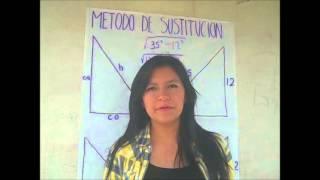 metodo de sustitucion de cateto opuesto, cateto adyacente e hipotenusa
